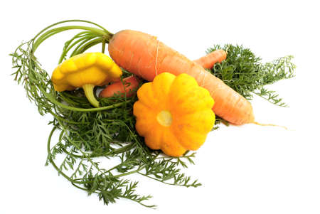 stimulate: Beautiful, bright vegetables on a white background, please an eye and stimulate appetite.