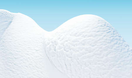 snowdrifts: Illustration. High snowdrifts are snows, created nature, on a tender blue background.