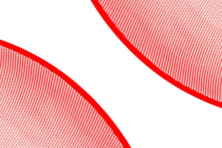 bias: Abstract illustration, two sectors from a red net bias shot. White background.  Stock Photo