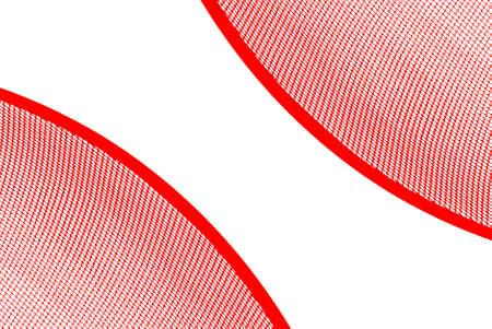 sectores: Ilustraci�n abstracta, dos sectores de un tiro neto rojo del diagonal. Fondo blanco. Foto de archivo