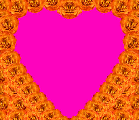 curtailed: An abstract illustration. A background from colors of a rose in the form of heart. A card for Sacred Valentines holiday.  Stock Photo