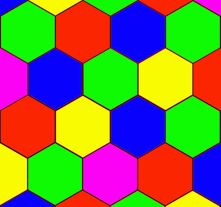 Decorative background, pattern from the correct colored hexagons.  Stock Photo - 3312691