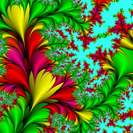 valentinas: Decorative background, pattern from the bright colors and leaves against the blue background.