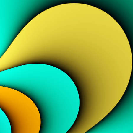 formulation: Four colored lobes background for the image or the text. Illustration.