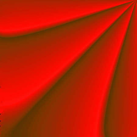 portiere: Abstract red background, pointer from the folds of cloth.  Stock Photo