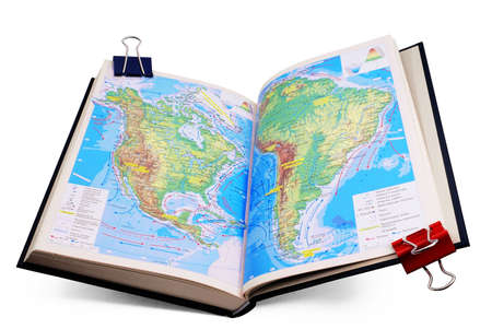 appeared: The book appeared on the page with maps of the Americas. An isolated site on a white .