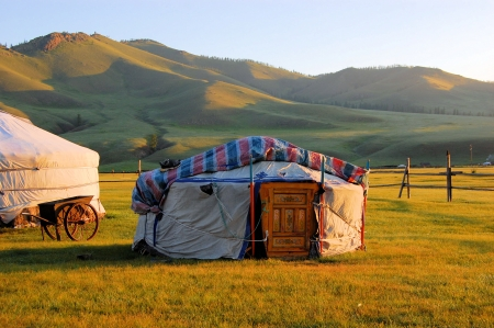 A Yurt in the Mongolian Steppe
