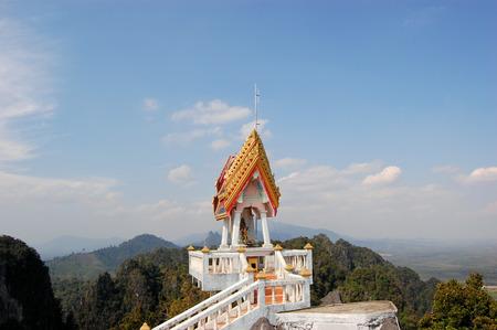 View from Buddhist mountain peak Tiger Temple (Wat Tham Sua) - South Thailand, Krabi photo