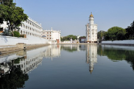 evita: The Harmandir Sahib, also Darbar Sahib and informally referred to as the Golden Temple, is the holiest Sikh gurdwara located in the city of Amritsar, Punjab, India