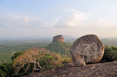 sigiriya: Sigiriya Rock Fortress 5th Century Ruined Castle.