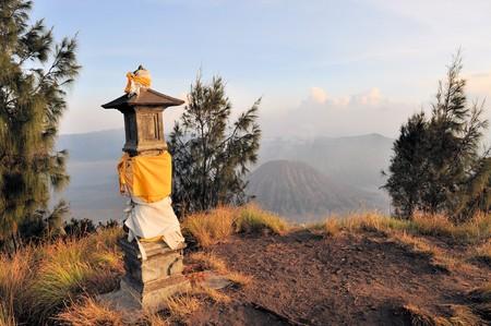 tengger: Hindu Shrine at Bromo Tengger Semeru National Park on Java, Indonesia