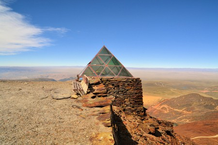 at the highest: Weather Station on Chacaltaya peak, highest ski resort in the world, Bolivia