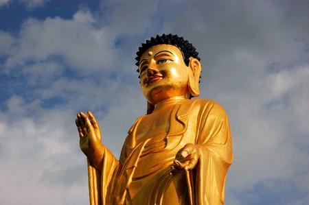 Estatua de Buda en la ciudad capital de Ulan Bator, Mongolia Foto de archivo