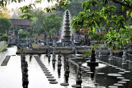 cravings: Water Palace of Tirta Gangga in East Bali, Indonesia