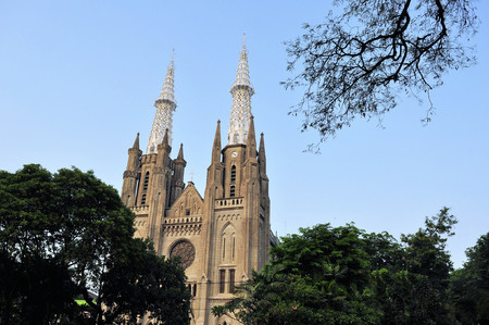 roman catholic: Neo-gothic Roman Catholic Cathedral, seat of the Roman Catholic Archbishop of Jakarta