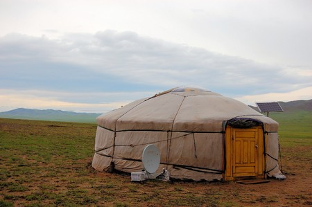 ger: Modeern and Tradition collide at a yurt with solar power and satellite TV in Mongolia