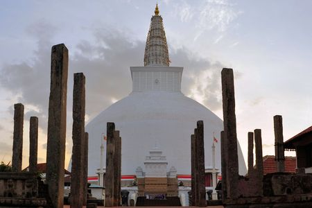 Mirisavatiya Dagoba, one of the 3 big stupas in the ancient capital of Anuradhapura, Sri Lanka