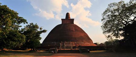 3rd century: Ruined Buddhist Jetavaranama Red Brick Dagoba Stupa, Anuradhapura, Sri Lanka
