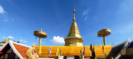 chink: Wat Phra That Doi Kham, Buddhist temple near the historic city of Chiang Mai, Thailand.