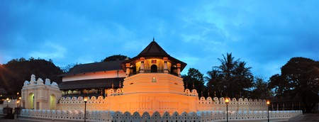 relict: Buddhist Temple with sacred Buddha Tooth relict in Kandy, Sri Lanka