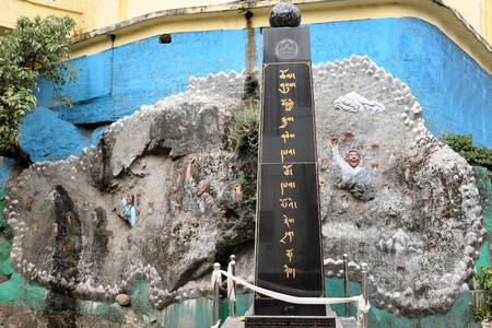 dalai: A monument fo Tibetan freedom and independance from China in the Indian town of Dharamsala, home of the Dalai Lama