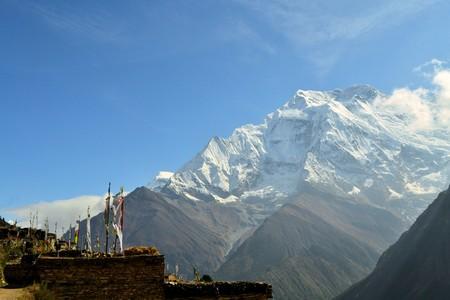 Beautiful landscape in Himalayas, Annapurna mountain range, Nepal