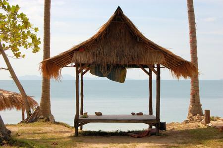 bungalow: Tropical beach hut bungalow on Ko Jum island in Thailand
