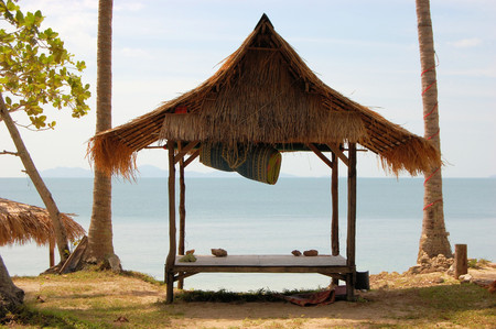 Tropical beach hut bungalow on Ko Jum island in Thailand