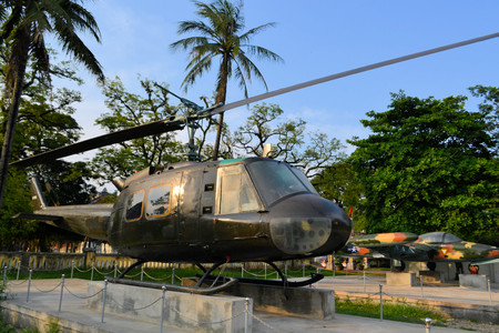 blackhawk helicopter: US Military helicopter used during the Vietnam War at an open air exhibiton in Hue Vietnam Editorial