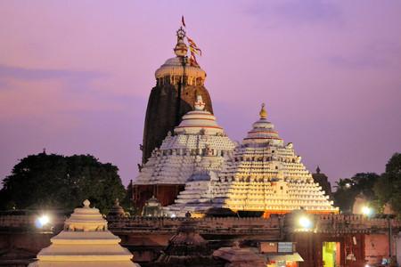 Jagannath Temple in Puri, 12th Century, Orissa, India. Jagannath temple hosts the annual procession of massive chariots, juggernauts, a Hindu festival Stock Photo