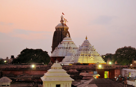 horizontals: Jagannath Temple in Puri, 12th Century, Orissa, India. Jagannath temple hosts the annual procession of massive chariots, juggernauts, a Hindu festival Stock Photo