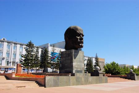 ulyanov: Bust Monument to Vladimir Lenin in Ulan-Ude city, capital city of the Buryat Republic, Russia.