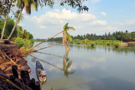 freshwater sailor: Tree and beautiful nature of Mekong river in Laos. Mekong is one of the most important river in Indochina and South East Asia
