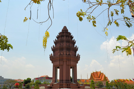 penh: Independence Monument Vimean Ekareach in Phnom Penh, Cambodia