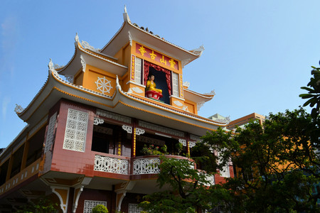 Giac Lam Pagoda, Ho Chi Minh City, Saigon, Viet Nam. Giac Lam is an ancient pagoda in Ho Chi Minh City Standard-Bild
