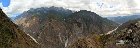 Tiger Leaping Gorge near Lijiang, upper Yangtze river on the edge of the Tibetan plateau, Yunnan Province, China photo