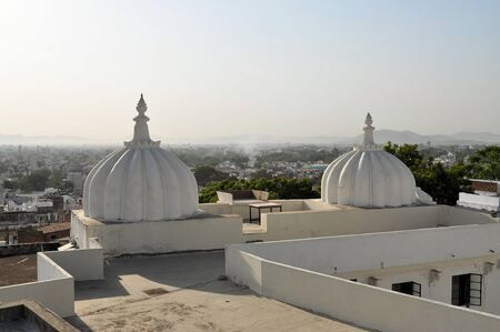 rajput: View over the roofs of Udaipur. Udaipur is one of main Rajasthan landmarksfor tourists