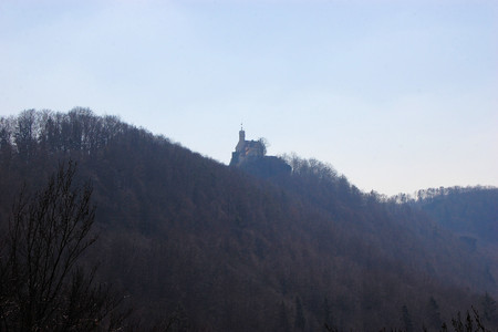 Rabenstein - old castle in the mountainous Franconian Switzerland region of Upper Franconia, Bavaria, Germany. photo