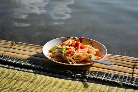 green papaya salad: Green Papaya Salad SOM TAM