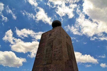 equator: Mitad Del Mundo - Middle of the World - Monument marking the equator line of zero latitude near Quito, Ecuador