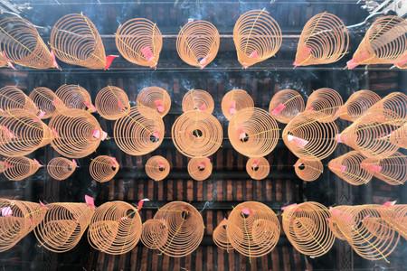 Spiral Incense at Thien Hau Chinese Mahayana Buddhist Pagoda in Ho Chi Minh City, Saigon, Vietnam
