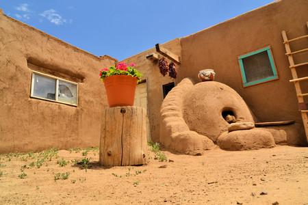 Taos Pueblo ancient Indian indegineous adobe city in New Mexico