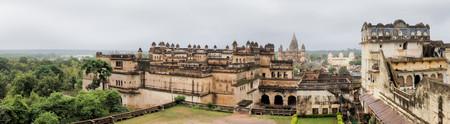 maharaja: Jahangir Mahal, important maharaja palace and military fortification in Orchha, Uttar Pradesh, India Stock Photo