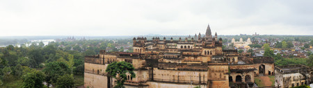 fortification: Jahangir Mahal, important maharaja palace and military fortification in Orchha, Uttar Pradesh, India Stock Photo