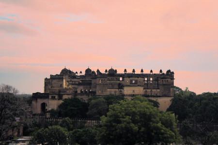 maharaja: Jahangir Mahal, important maharaja palace and military fortification in Orchha, Uttar Pradesh, India Editorial
