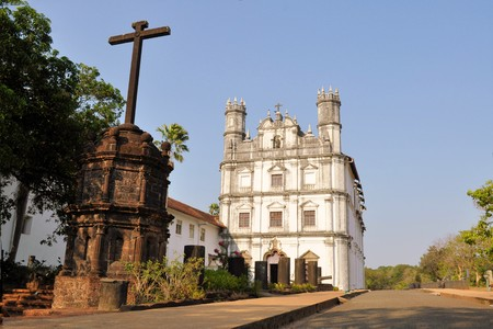 colonial church: Portuguese Colonial Church of St. Francis of Assisi, old Goa, India Stock Photo