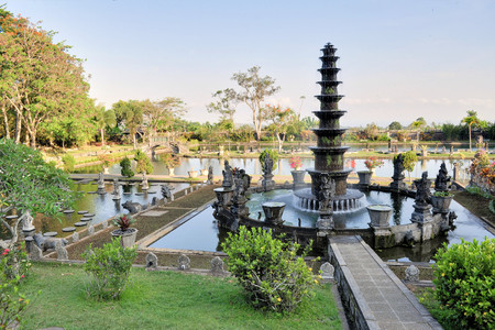 Water Palace of Tirta Gangga in East Bali, Indonesia photo