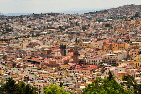 Zacatecas is a former Spanish colonial silver mining town with a lot of colonial architecture in Central Mexico Standard-Bild