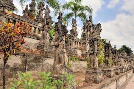 Entrance of Pura Meduwe Karang Temple at Kubutambahan village, 12 km eastern from Singaraja in the north of Bali.