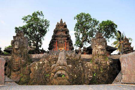 saraswati: Lotus pond and Pura Saraswati temple in Ubud, Bali, Indonesia. Editorial